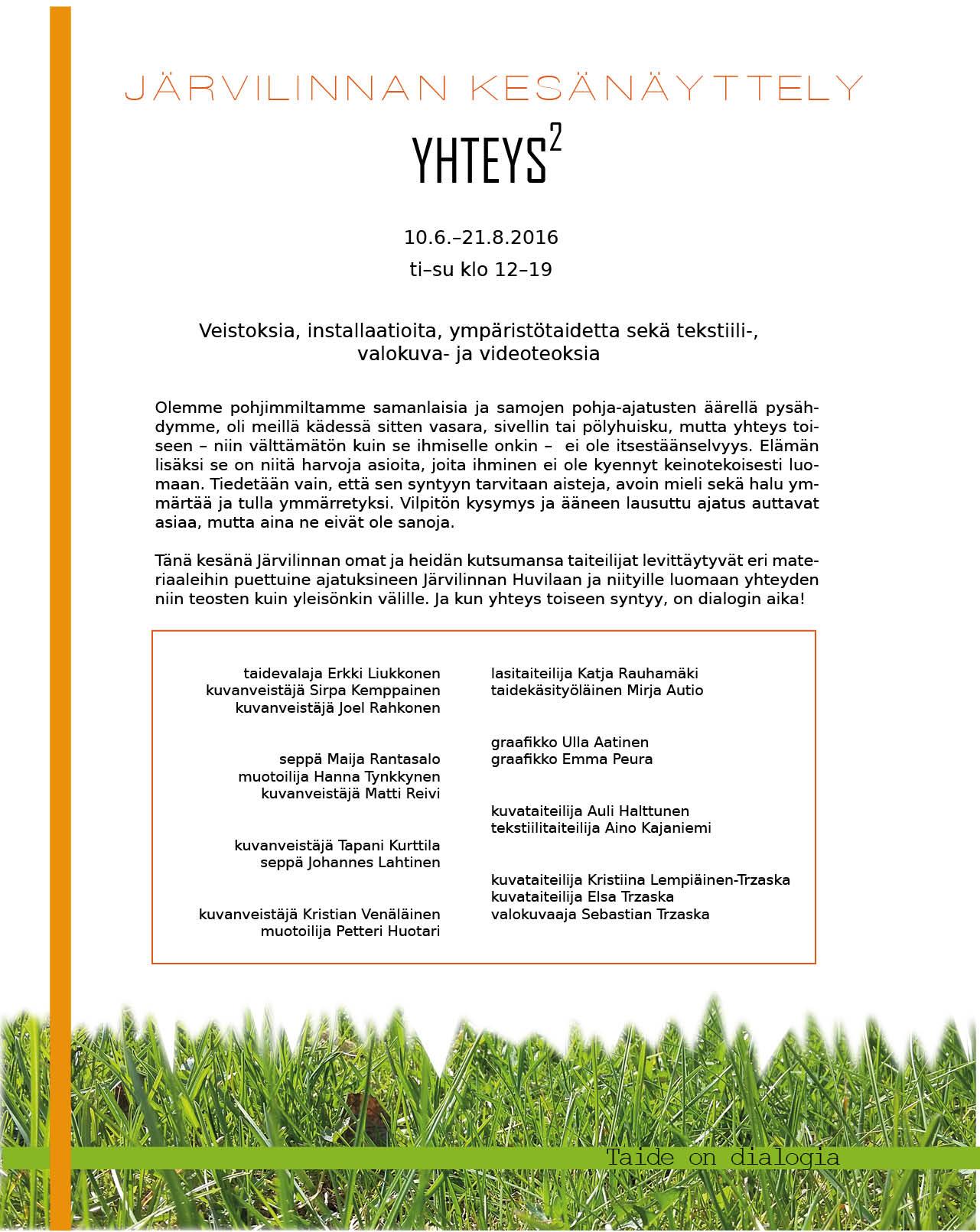 Info sivu kesänäyttelystä